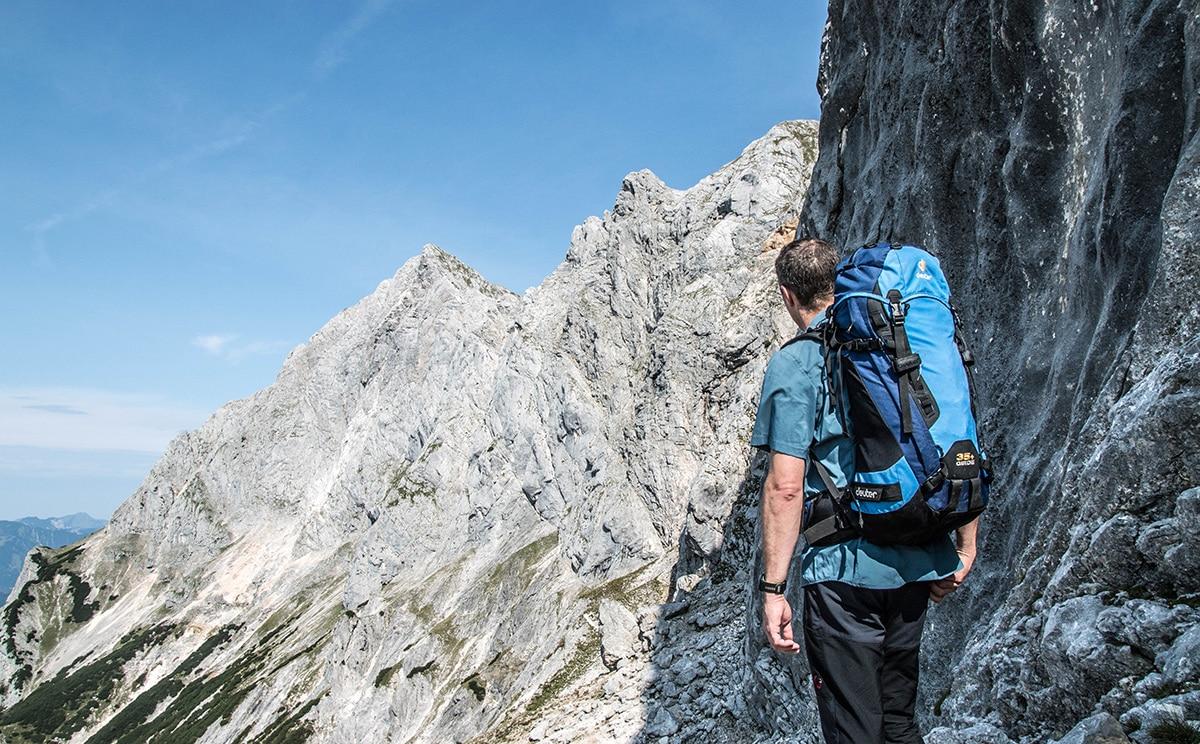 Bergsteigen im Nationalpark Berchtesgaden, Aufstieg über Schaflsteig zur Mayrbergscharte