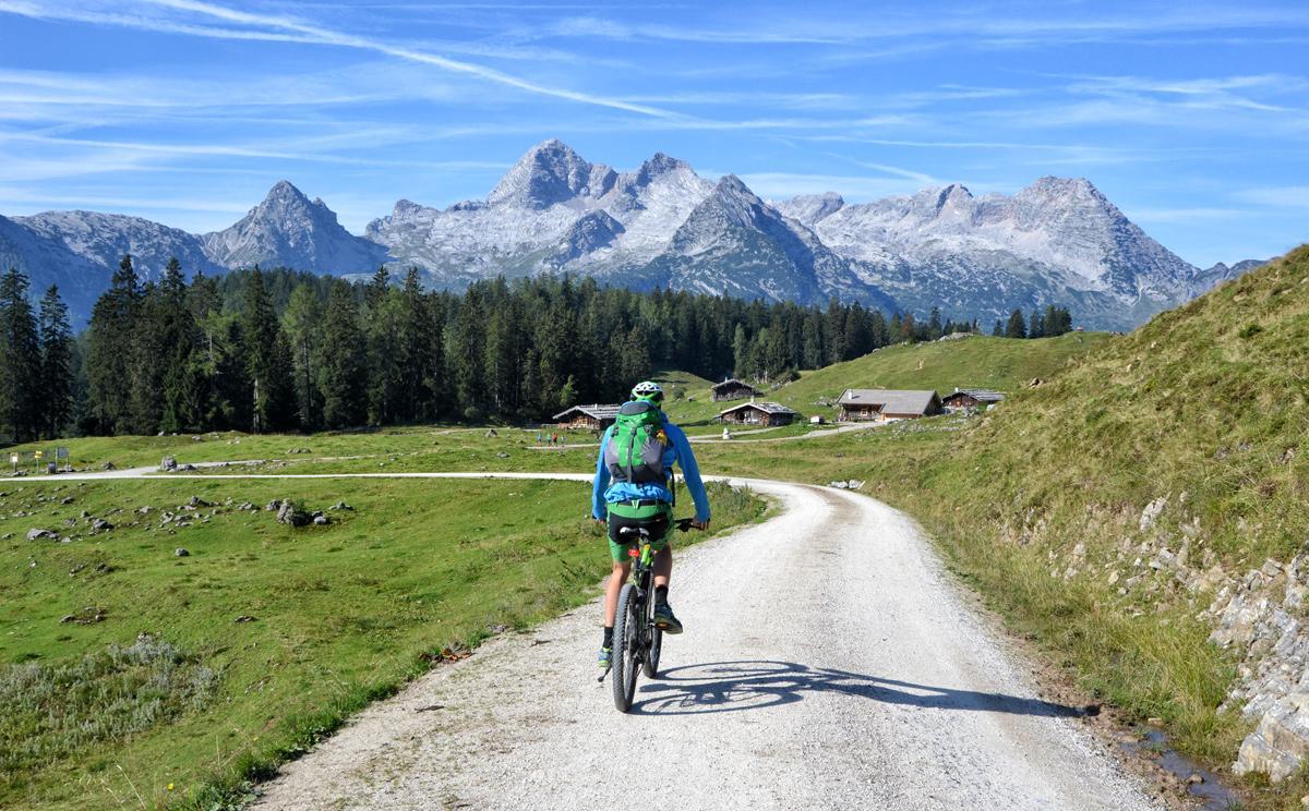 Mit dem Mountainbike zur Kallbrunnalm,
